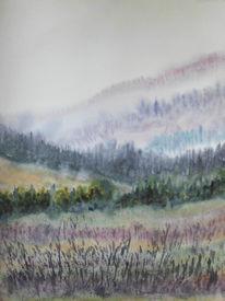 Stimmung, Hügel, Landschaft, Atmosphäre