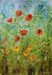 Pflanzen, Gelb, Blumen, Steinpapier