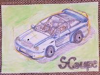 Automobil, Zeichnung, Zeichnungen