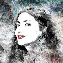 Iran, Frau, Portrait, Digital