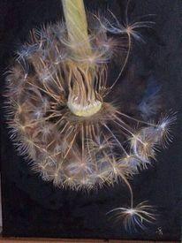 Malerei, Bunt, Natur, Pusteblume 2
