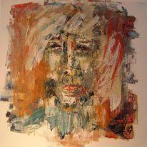Malerei, Abstrakt, Kopf
