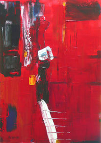Haus, Malerei, Abstrakt, Stadt