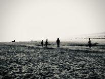 Strand, Nebel, Menschen, Fotografie