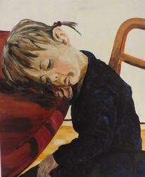 Stuhl, Blau, Schlaf, Kind