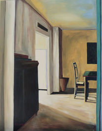 Schrank, Stuhl, Tisch, Tür