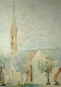 Grau, Baum, Turm, Kirche