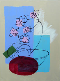 Blumen, Malerei, Orchidee, Blau