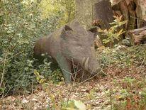 Skulptur, Tiere, Schwein, Figur