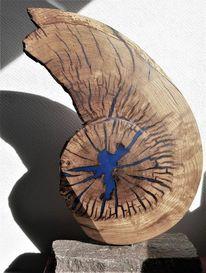 Gerissen, Holz, Spirale, Scheibe