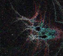Netzwerk, Licht, Reflektionen, Verbindung