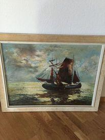 Malerei, Wasser, Blau, Meer
