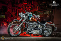 Harleydavidson, Softtaildeluxe, Custompainting, Metalflake