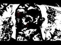 Rot schwarz, Blut, Weiß, Kopf