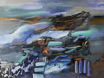 Gemälde, Moderne malerei, Acrylmalerei, Blau