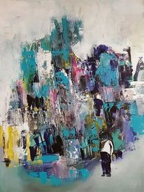 Abstrakte kunst, Moderne kunst, Lila, Abstrakte malerei