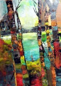 Landschaft, Moderne kunst, Abstrakte malerei, Moderne malerei