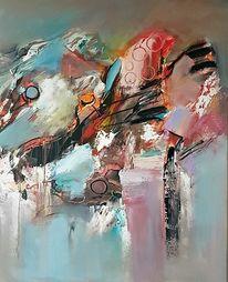 Abstrakte malerei, Abstrakte kunst, Zeitgenössische malerei, Modern