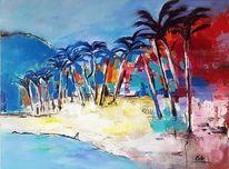 Gemälde abstrakt, Acrylmalerei, Meer, Abstrakte malerei