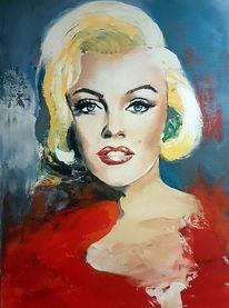 Zeitgenössische malerei, Marilyn monroe, Abstrakte kunst, Acrylmalerei