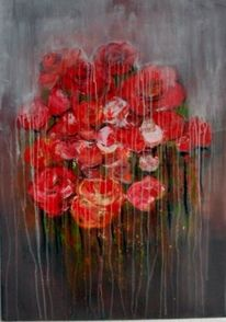 Abstrakte kunst, Gemälde, Blumen, Abstrakte malerei