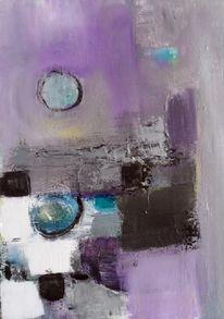 Abstrakte malerei, Moderne malerei, Moderne kunst, Lila