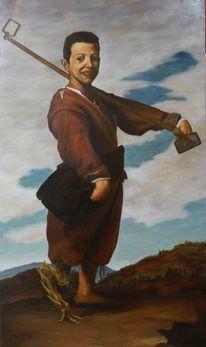 Barock, Portrait, Studie, Ölmalerei