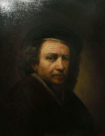Symbolismus, Ölmalerei, Mütze, Untermalung