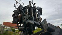 Metallskulptur, Metall, Metallroboter, Kunsthandwerk