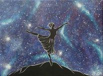Ballerina, Fantasie, Malerei,