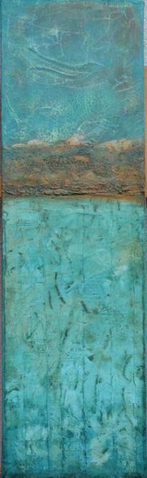 Baumaterial, Abstrakt, Kupfer, Türkis