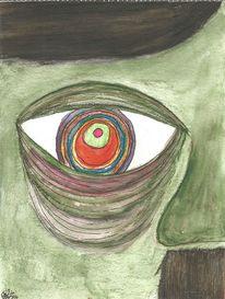 Augen, Bunt, Aquarellmalerei, Hitler