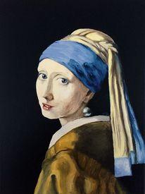 Frau, Portrait, Klassisch, Malerei
