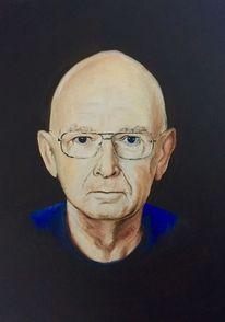 Mann, Brille, Malerei, Vater