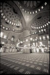 Moschee, Fotografie, Blau