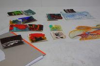 Gemälde, Ausstellung, Malerei, Pinnwand