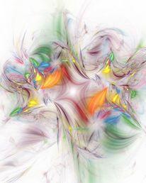Hoffnung, Digital, Blüte, Farben