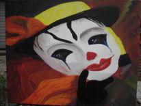 Gele hoed, Malerei, Clown, Melagoniek
