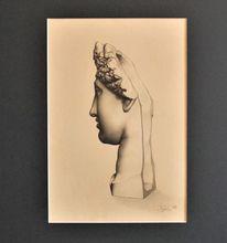 Venus, Portrait, Skulptur, Kohlezeichnung