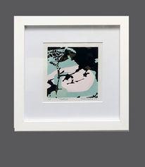 Abstrakt, Kleines format, Rosé, Farbholzschnitt