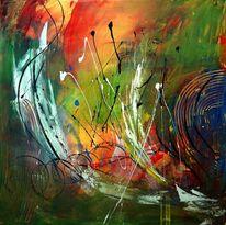 Malerei, Abstrakt, Modern, Farbrausch