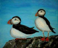 Vogel, Schwarz weiß, Tiere, Malerei
