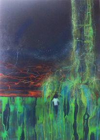 Menschen, Ölmalerei, Urwald, Figural