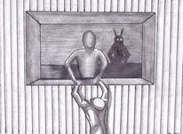 Weiß, Gestalt, Bleistiftzeichnung, Skizze