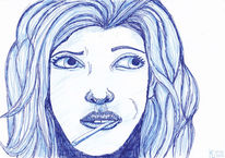 Haare, Mund, Blau, Nase