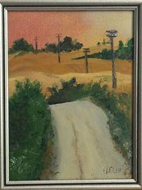 Ölmalerei, Malerei, Ladnschaft, Weg