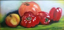 Gemüse, Paprika, Tomate, Malerei