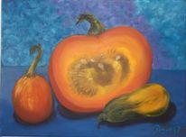 Gemüse, Blau, Orange, Kürbisse