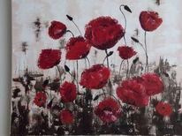 Pflanzen, Blumen, Moonblume, Rot