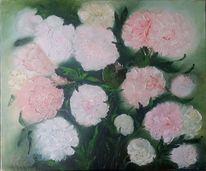 Rosa, Ölmalerei, Weiß, Blumen